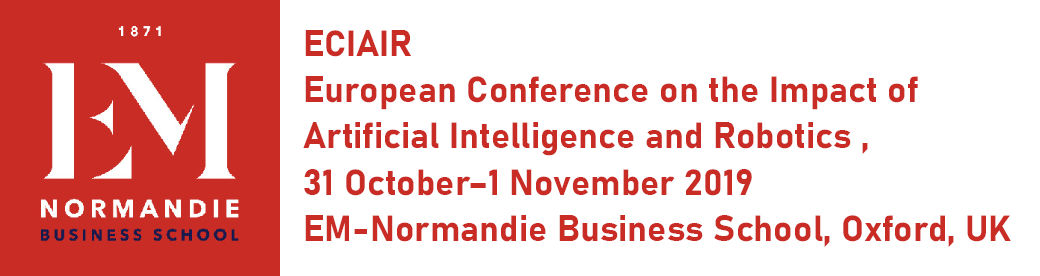 Robert J. Wierzbicki Is Member of the ECIAIR – The European Conference on the Impact of Artificial Intelligence and Robotics – 2019 Committee